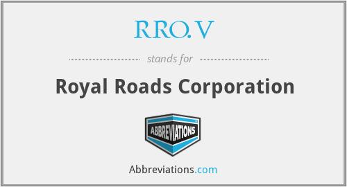 RRO.V - Royal Roads Corporation