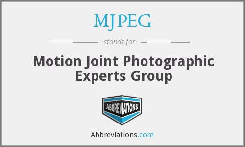 What does MJPEG stand for?