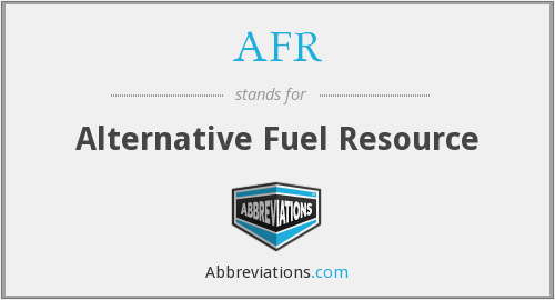 AFR - Alternative Fuel Resource