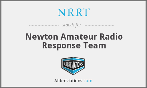 NRRT - Newton Amateur Radio Response Team