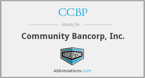 CCBP - Community Bancorp, Inc.