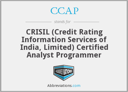CCAP - CRISIL (Credit Rating Information Services of India, Limited) Certified Analyst Programmer