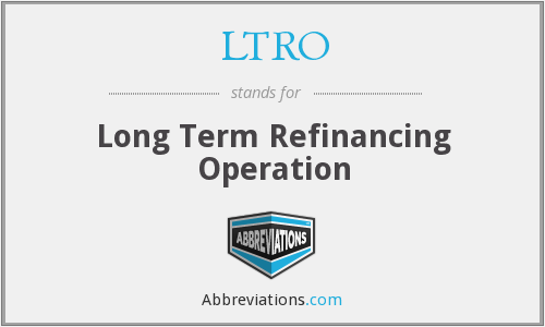 What does LTRO stand for?