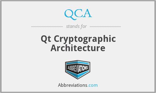 QCA - Qt Cryptographic Architecture