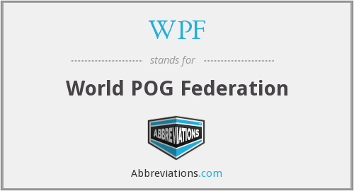 WPF - World POG Federation