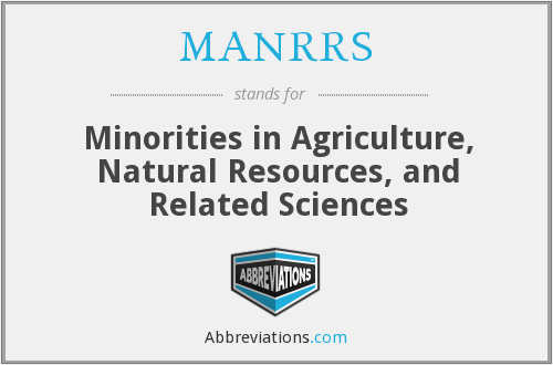What does MANRRS stand for?
