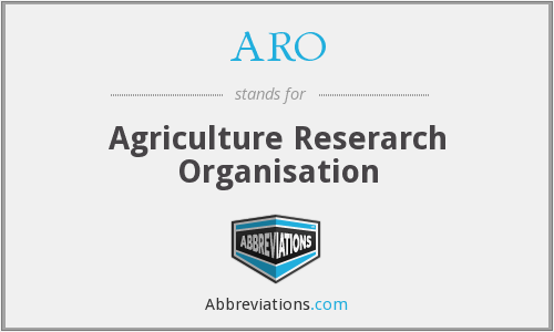ARO - Agriculture Reserarch Organisation