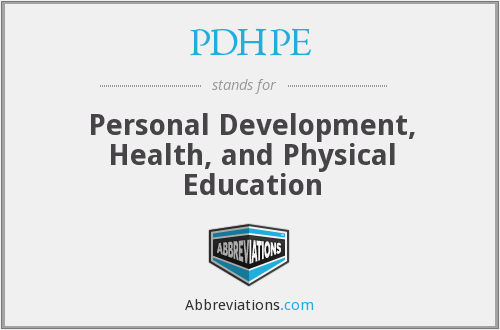 What does PDHPE stand for?