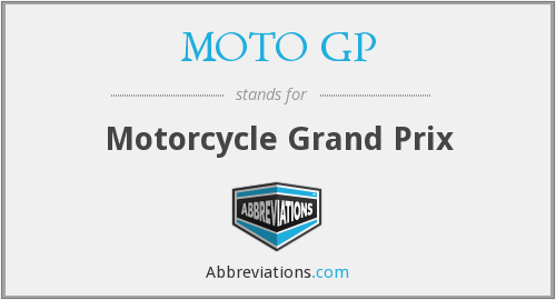 What does MOTO GP stand for?