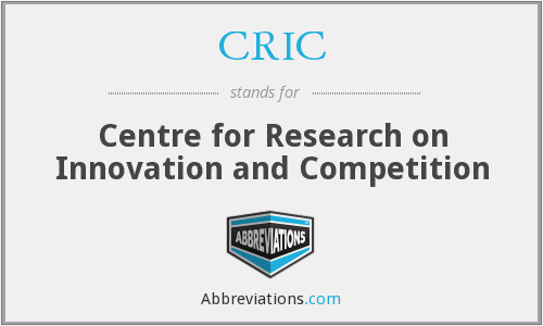CRIC - Centre for Research on Innovation and Competition