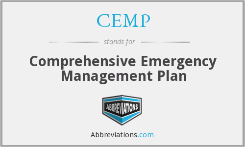 CEMP - Comprehensive Emergency Management Plan