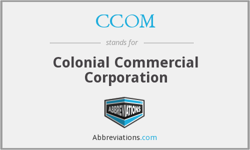 What does CCOM stand for?