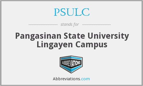 PSULC - Pangasinan State University Lingayen Campus