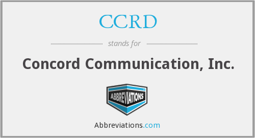 What does CCRD stand for?
