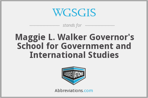 What does WGSGIS stand for?