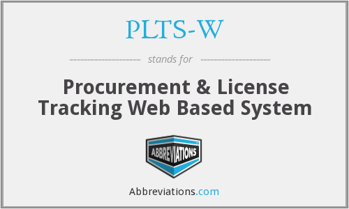 What does PLTS-W stand for?