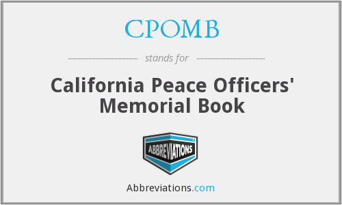 CPOMB - California Peace Officers' Memorial Book