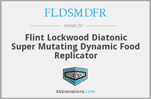 What does FLDSMDFR stand for?
