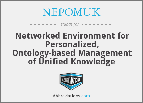 NEPOMUK - Networked Environment for Personalized, Ontology-based Management of Unified Knowledge