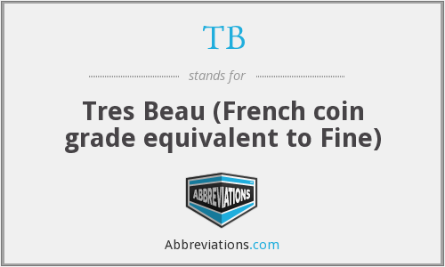 TB - Tres Beau (French coin grade equivalent to Fine)