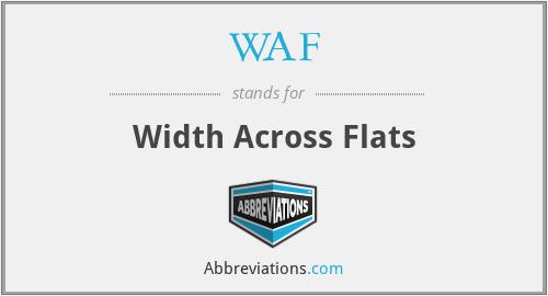 WAF - Width Across Flats