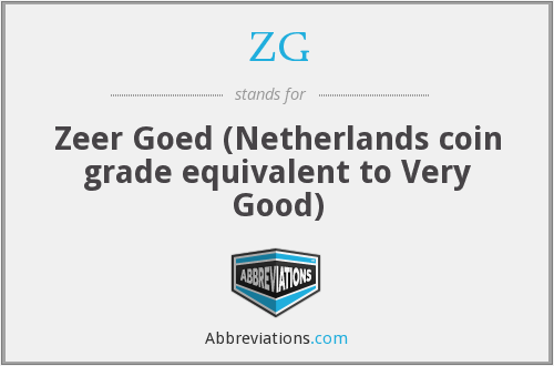 ZG - Zeer Goed (Netherlands coin grade equivalent to Very Good)