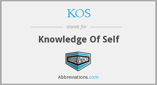 KOS - Knowledge Of Self