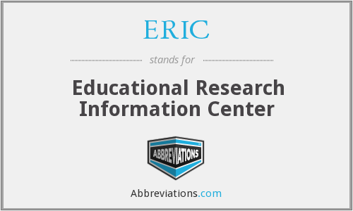 ERIC - Educational Research Information Center