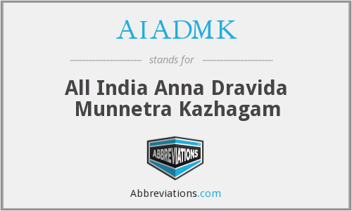 What does AIADMK stand for?