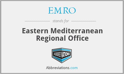 EMRO - Eastern Mediterranean Regional Office