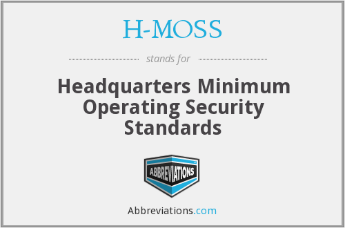 H-MOSS - Headquarters Minimum Operating Security Standards