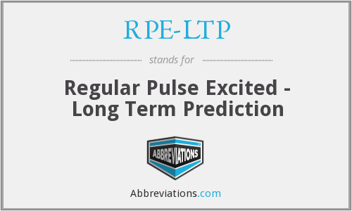 What does RPE-LTP stand for?