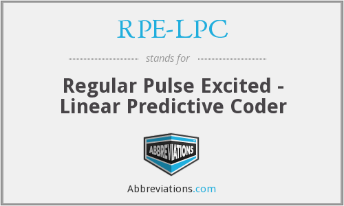 What does RPE-LPC stand for?