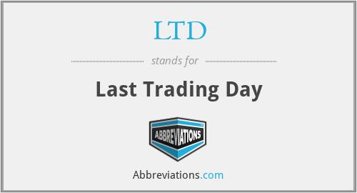 LTD - Last Trading Day