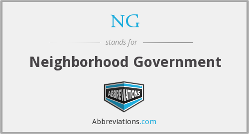 NG - Neighborhood Government