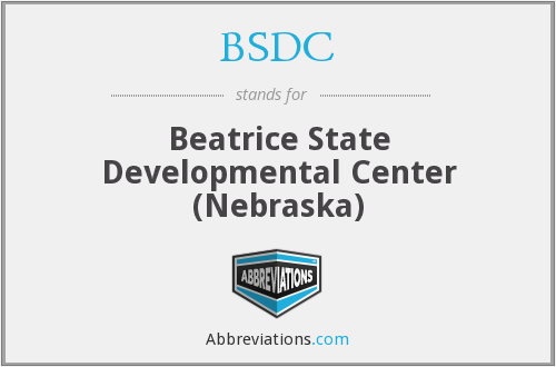 BSDC - Beatrice State Developmental Center (Nebraska)