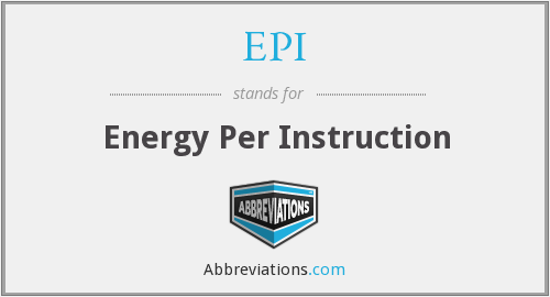 What does EPI stand for?