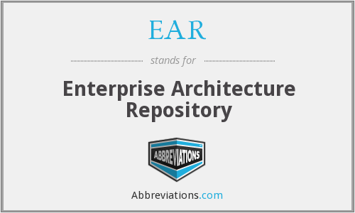 EAR - Enterprise Architecture Repository