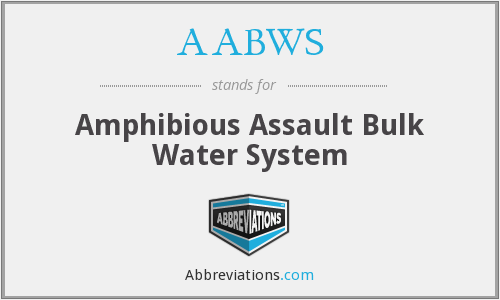 AABWS - Amphibious Assault Bulk Water System