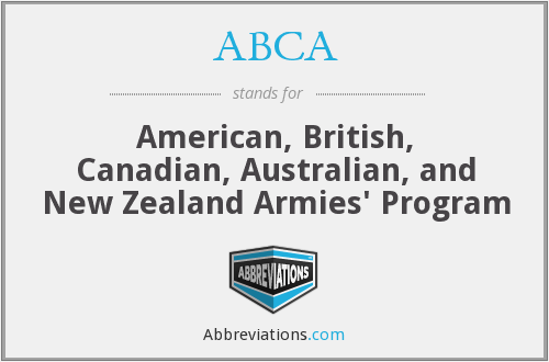 ABCA - American, British, Canadian, Australian, and New Zealand Armies' Program
