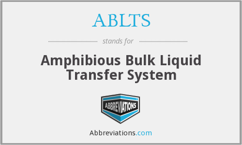 ABLTS - Amphibious Bulk Liquid Transfer System