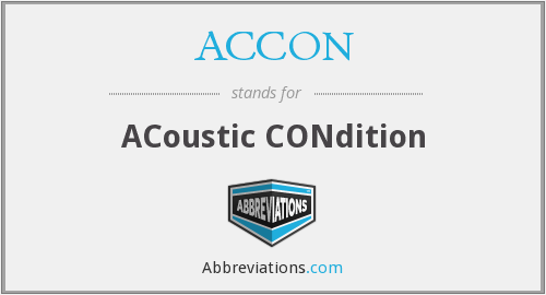 ACCON - ACoustic CONdition