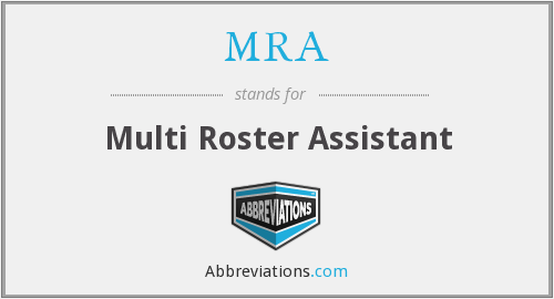 MRA - Multi Roster Assistant