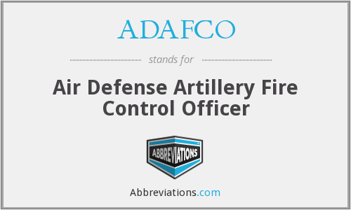 ADAFCO - Air Defense Artillery Fire Control Officer