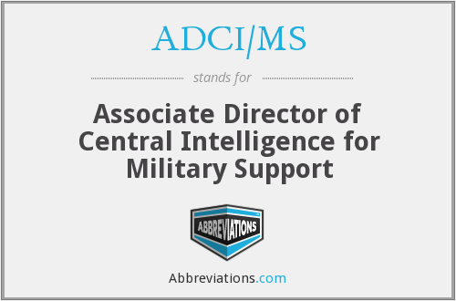 What does ADCI/MS stand for?