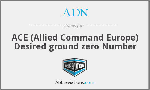 ADN - ACE (Allied Command Europe) Desired ground zero Number
