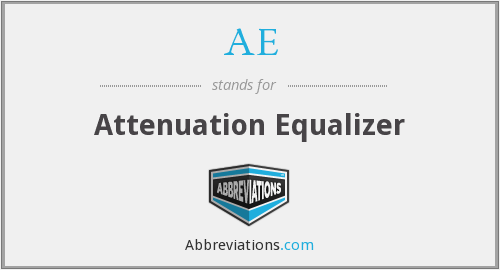 AE - Attenuation Equalizer
