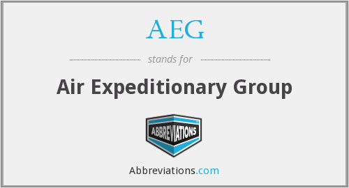 AEG - Air Expeditionary Group