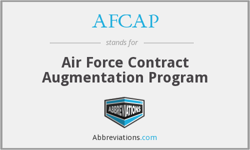What does AFCAP stand for?