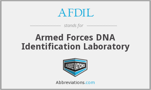AFDIL - Armed Forces DNA Identification Laboratory